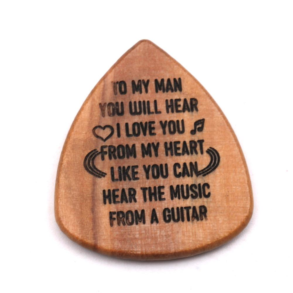 3pcs Guitar Picks With Wooden Guitar Picks Case Delicate Guitar Picks Guitar Accessories Guitar Pick suit enlarge