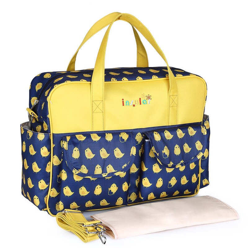 Insular multifunctional mummy bag fashion women oblique cross-body new mother baby outing bags big size infant diaper