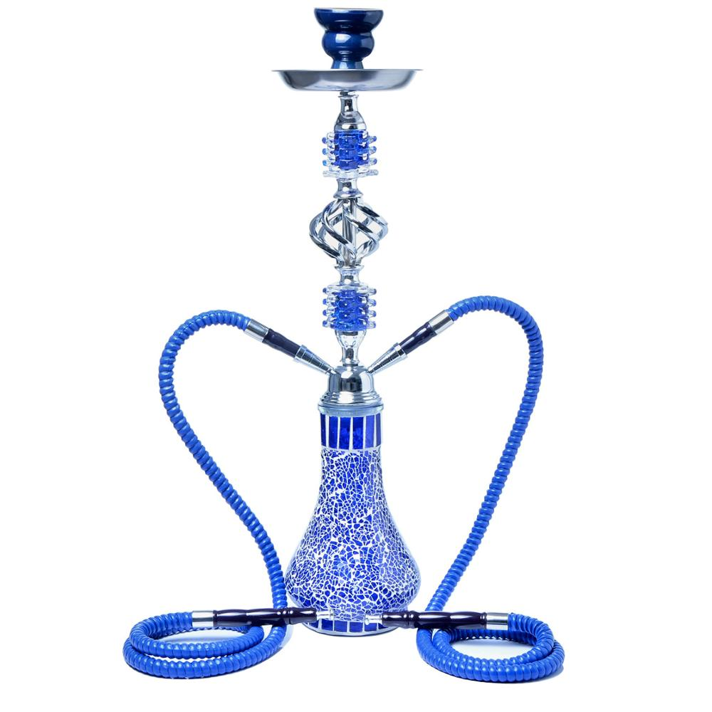 luxury  high 53mm Glass Arab Hookah Smoking Accessories Nargile  Shisha  Set Double Smoke Pipe Shisha enlarge
