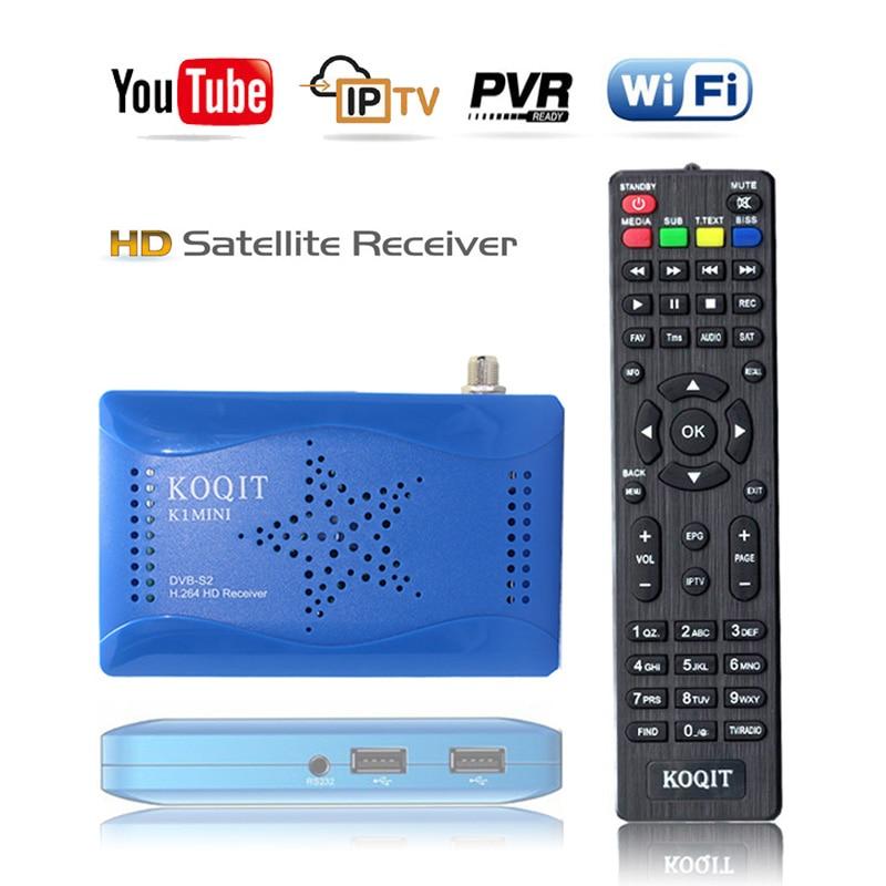 DVB S2 Digital TV Box decodificador sintonizador DVB-S2 T2-MI Receptor de satélite buscador de TV satelital Wifi m3u Scam Auto Biss clave/UV