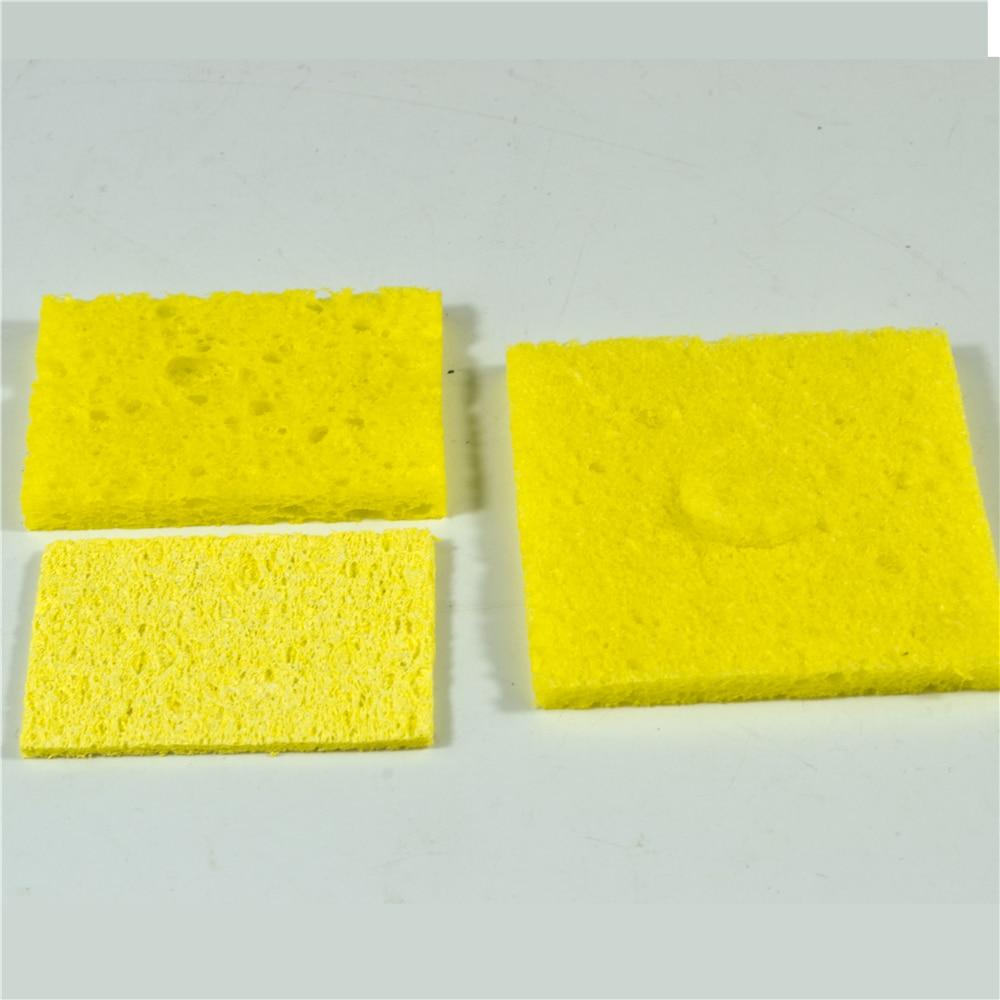 Губка для паяльника 10 штук в упаковке желтые пены 60 мм * 60 мм для очистки наконечников для пайки, используемых с водой