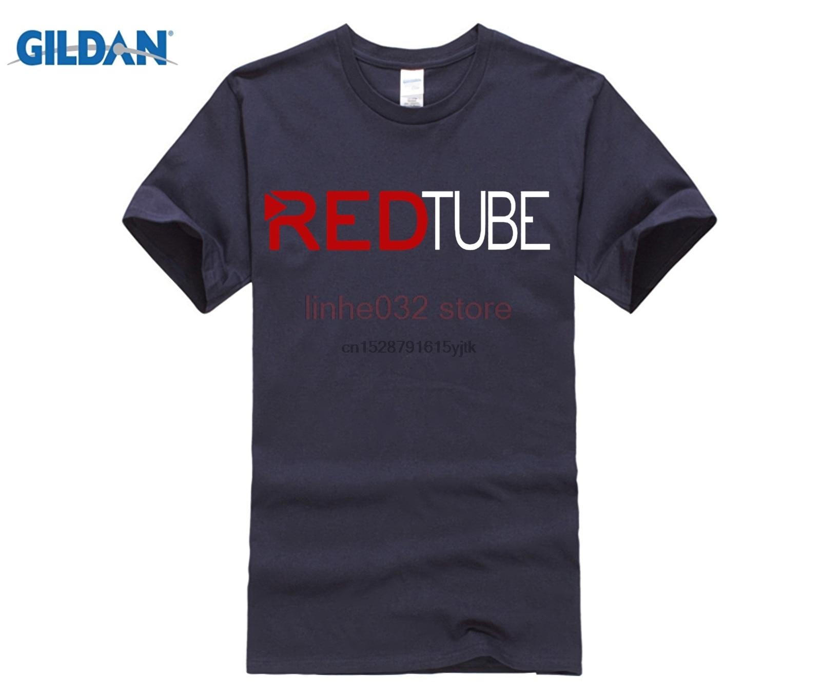 2019 Casual moda Redtube Logo MenT Shirt algodón masculino Tops camisetas moda novedosa camiseta de tubo rojo