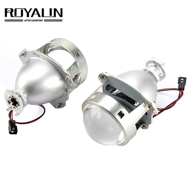 Автомобильный Стайлинг ROYALIN HID H1 Bi Xenon головной светильник объектив проектора 3,0 дюймов полностью металлический LHD RHD для H4 H7 9005 9006 автомобильный светильник для модернизации