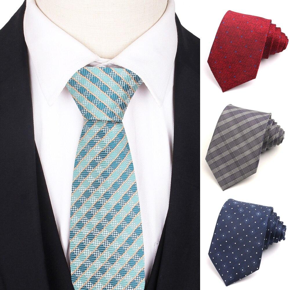 Классические клетчатые галстуки для мужчин, женские повседневные Галстуки в горошек, вечерние галстуки для девочек и мальчиков, галстук дл...