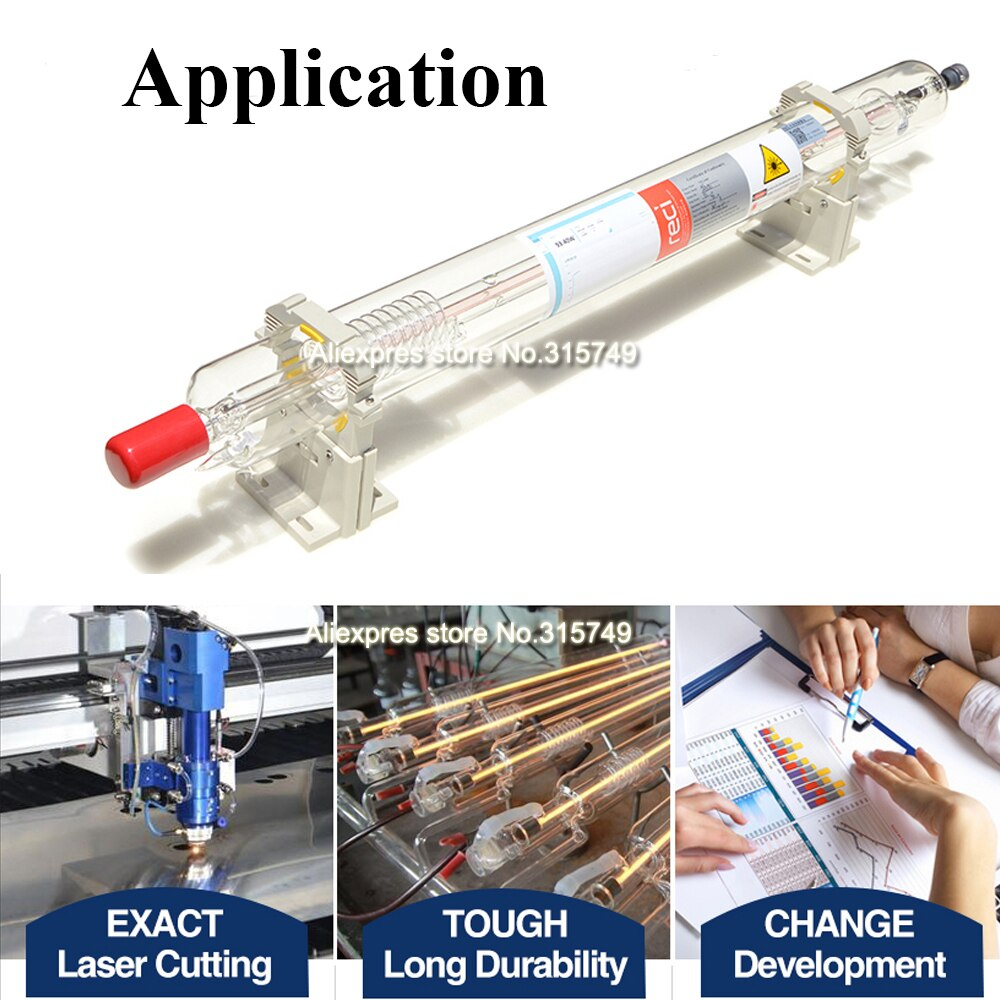 EU STOCK Reci W2 90-100W CO2 Laser Tube Dia. 80mm For CO2 Laser Engraving Cutting Machine  Wooden Case Packing enlarge