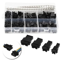yt 100x 2 54mm malefemale black housing pin way cable plug 560pcs pin jumper dupont connector header housing wire connector kit