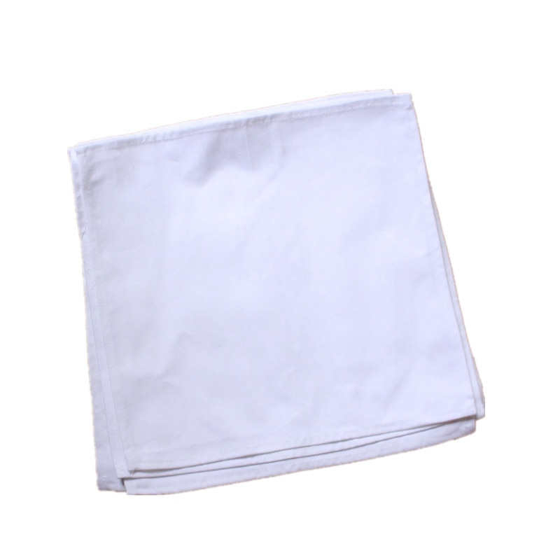 Paño plegable cuadrado 100% de algodón para Hotel restaurante occidental mesa de comedor servilleta gruesa textil para el hogar