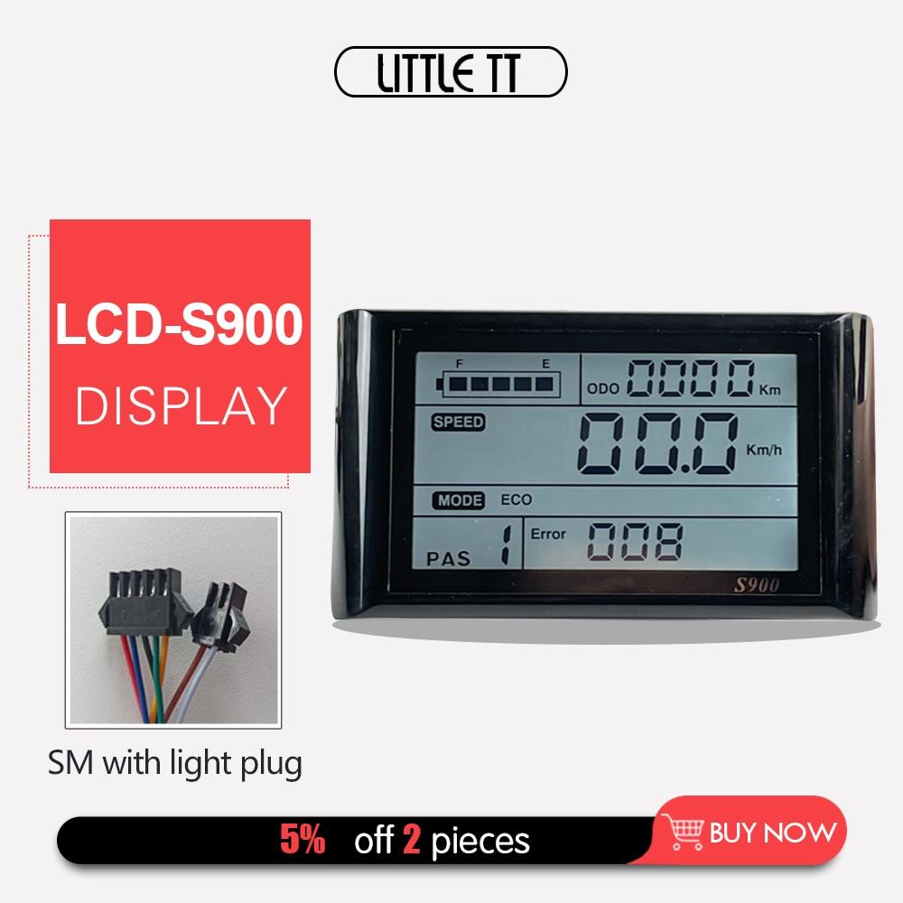 Panel de controlador Manual para Bicicleta eléctrica S900, pantalla LCD de 36V...