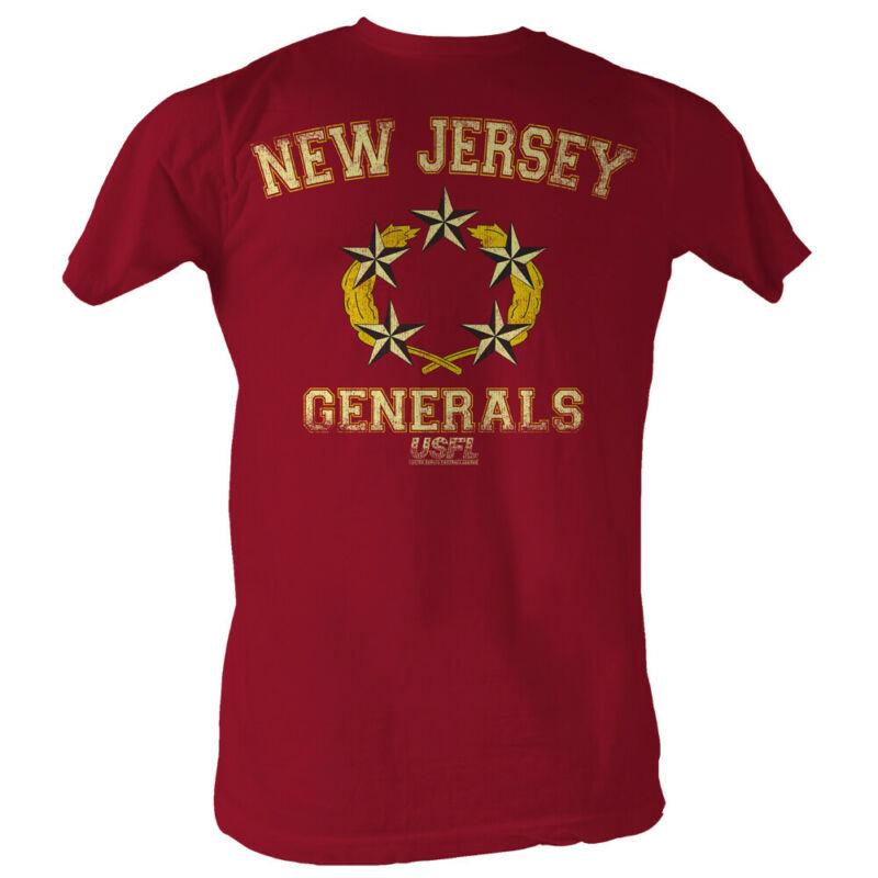 La USFL camiseta nueva Jersey generales rojo camiseta Heather
