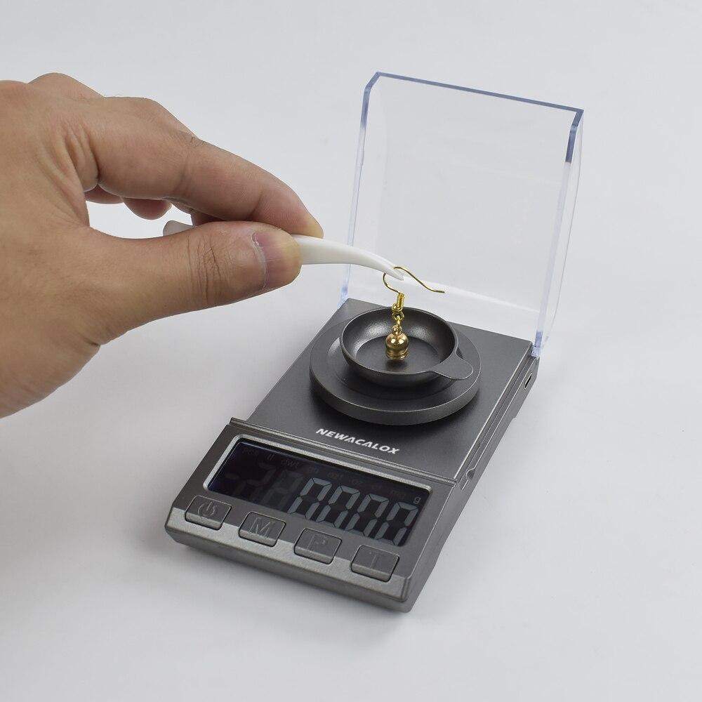 Весы NEWACALOX цифровые для ювелирных изделий, 50/0,001/100 г, USB-5