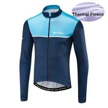 2019 Morvelo maillot de cyclisme à manches longues hiver thermique polaire coupe-vent et protection contre la pluie combinaison vélo tissu vélo veste