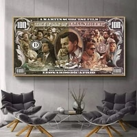 graffiti street money art 100 dollar canvas painting posters and prints wolf of wall street pop art for living room decor wall