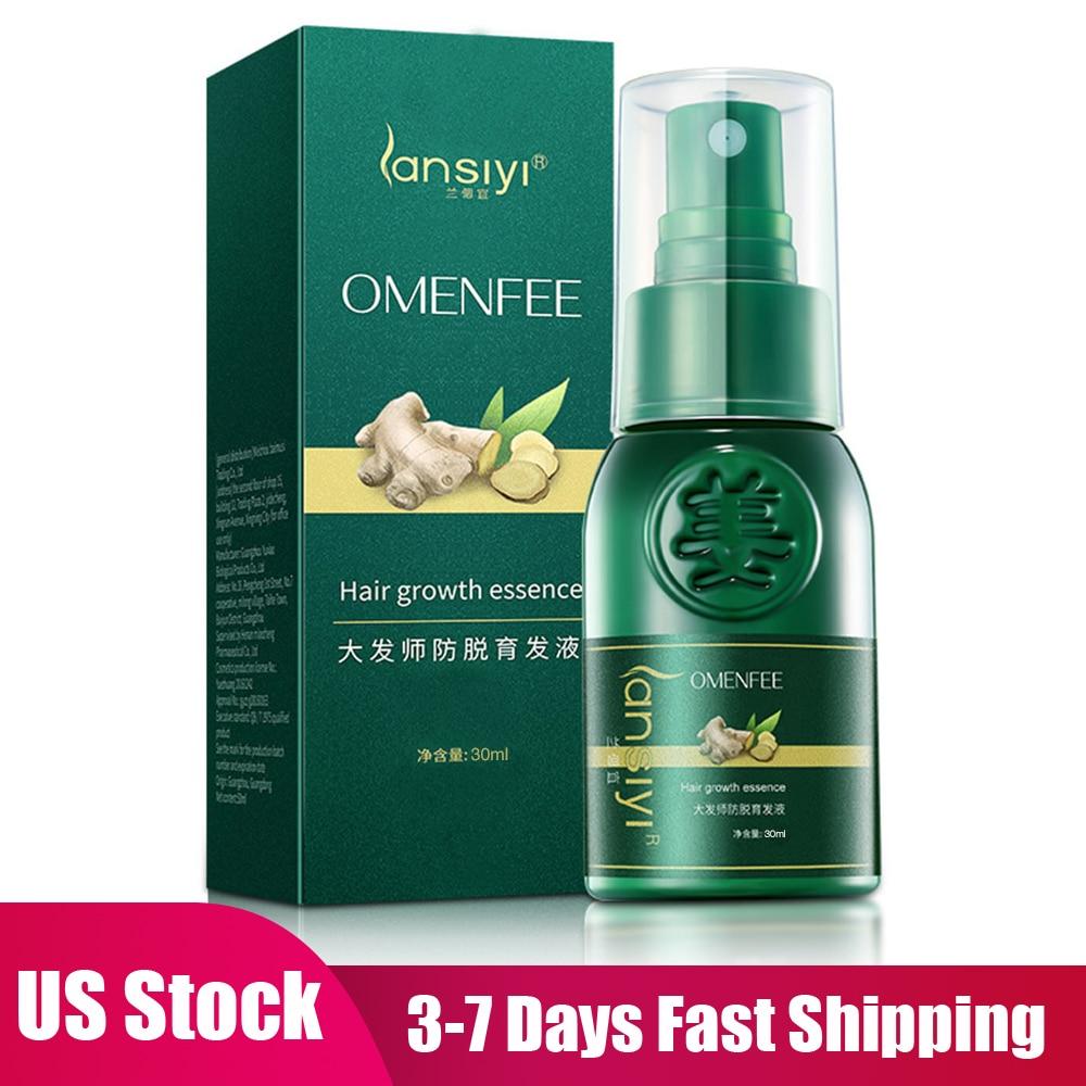 US Stock Ginger Hair Growth Spray Essential Oil Hair Loss Liquid Hair Growth Spray For Men Women Hair Care Tools