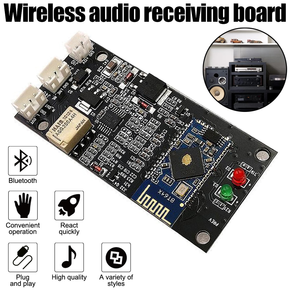 CSR64215 وحدة بلوتوث APTX سماعة لاسلكية تعمل بالبلوتوث 4.2/5.0 استقبال الصوت مجلس مكبر للصوت