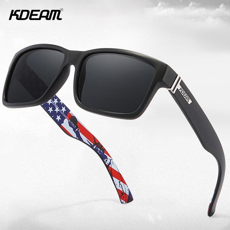 KDEAM-lunettes de soleil polarisées hommes   Carré, lunettes de soleil Sport extérieures, UV400 avec étui Original, KD505, 2020 dété