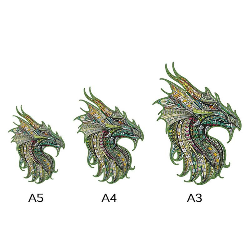 Уникальные деревянные головоломки животных таинственного дракона головоломки подарок для образовательные головоломки для малышей сказоч...