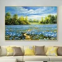 Peinture a lhuile abstraite sur toile peinte a la main  decor dart mural sans cadre  decoration dimage pour salon  cadeau de decoration de maison  100