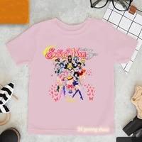 kawaii girls t shirts cute girls graphic print childrens clothing tshirt harajuku hip hop girls t shirts pink tops wholesale