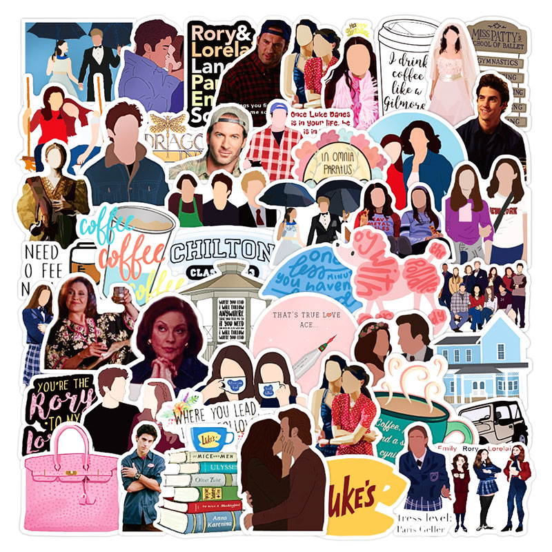 10/30/50pcs/pack Classic TV Show Gilmore Girls Graffiti Stickers For Furniture Wall Desk DIY Chair Toy Car Trunk Motorcycle Etc