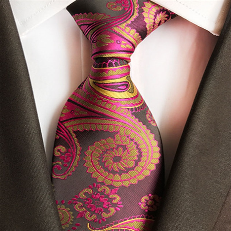 Men'S Slim Fashion Print Tie Classic Business Casual Joker Tie Wedding Jacquard Weave 100% Men'S Tie