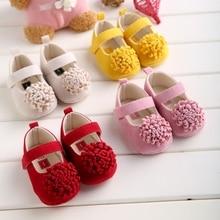 Chaussures antidérapantes à fond souple pour nouveau-né   Chaussures à couleurs bonbons, chaussures princesse classique pour fille, crèche Mary Jane grande fleur