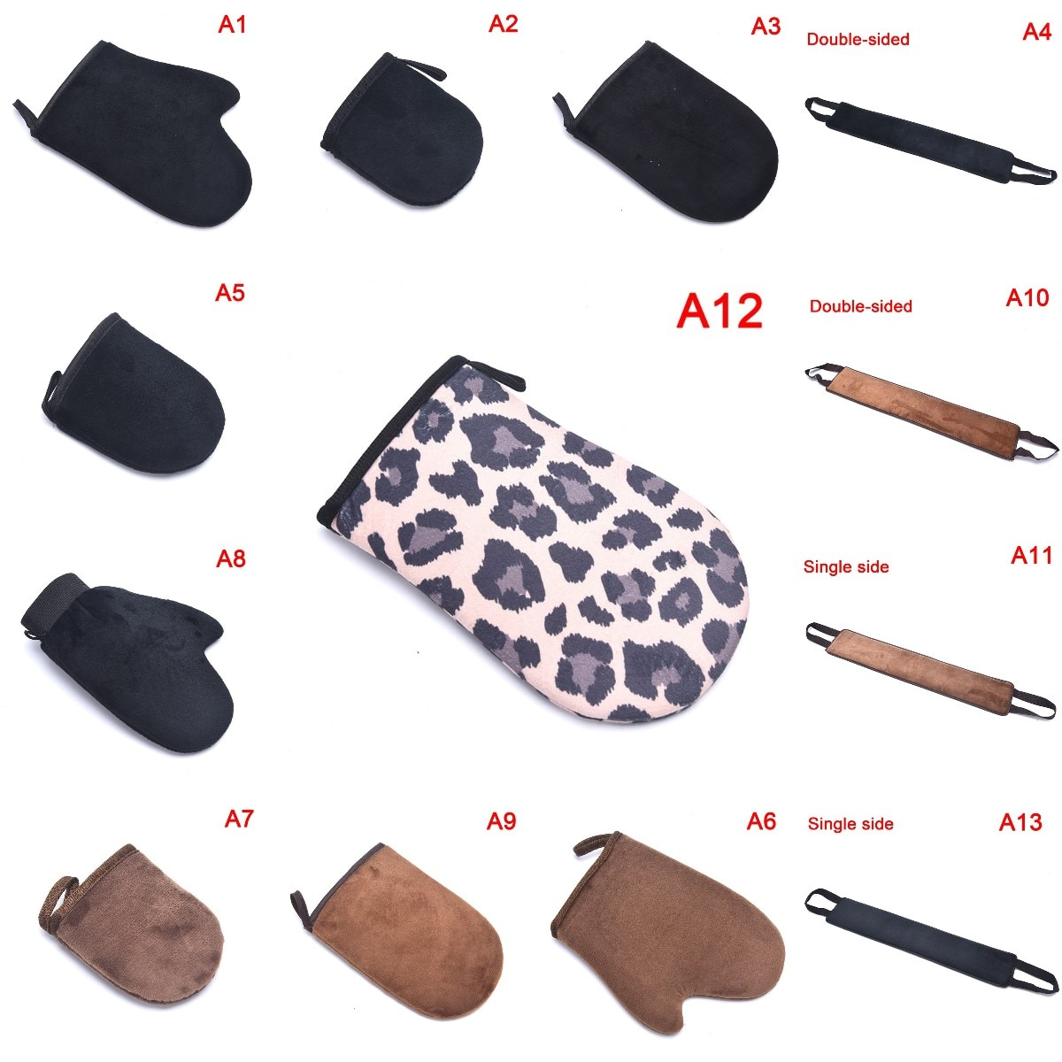 1pc Self Tanning Mitt Glove Reusable Body Face Bath Cleaning Tools Back Tan Applicator Exfoliating T