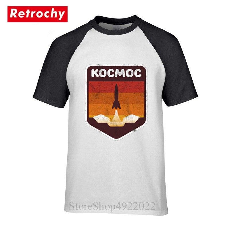 Camisa do espaço do foguete da língua russa t camisa da forma rússia cccp yuri gagarin tshirt hombre homem programa de exploração espacial camiseta