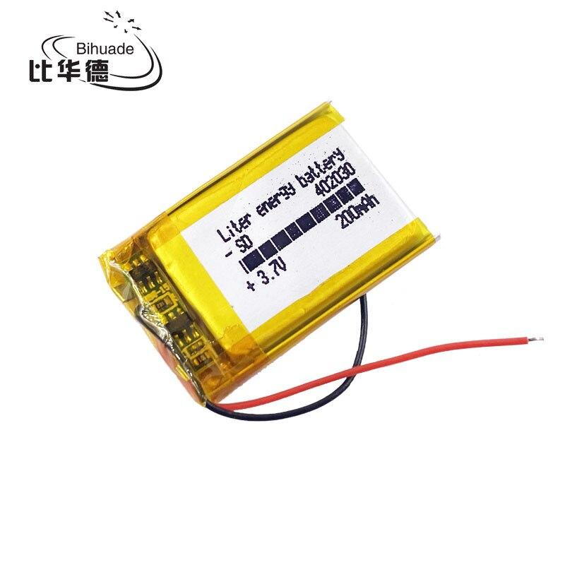3.7V بطارية ليثيوم 200mah 402030 042030 GPS لى بو بطارية قابلة للشحن ل MP3 MP4 MP5