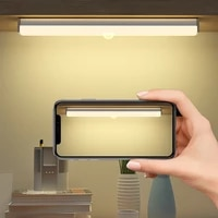 hoco led light pir motion sensor wardrobe light usb rechargeable night light led night lamp magnet wall light for kitchen stairs
