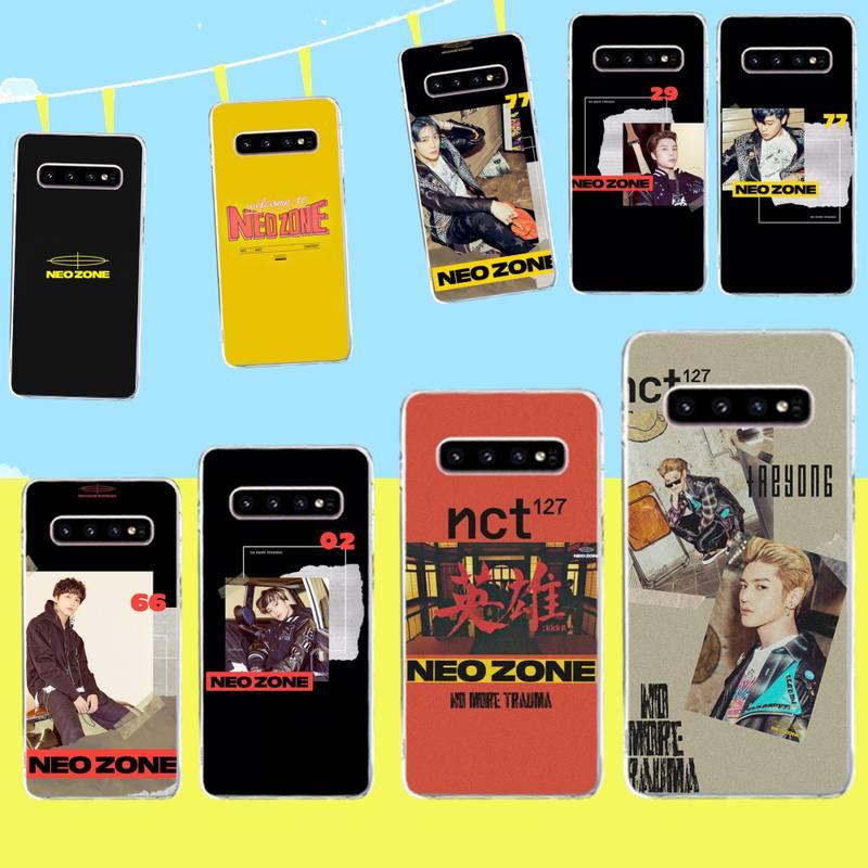 HPCHCJHM kpop NCT 127 Neo zona suave negro caja del teléfono de la cáscara del teléfono de Capa para Samsung S9 más S5 S6 S7 borde S8 S10 plus