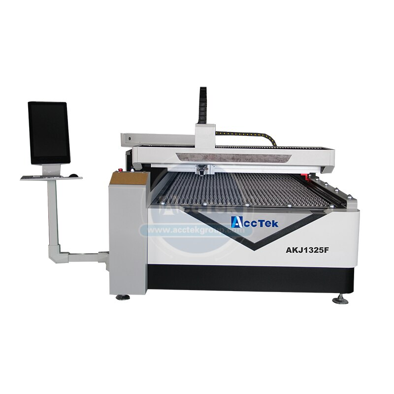 Gran oferta de máquinas de corte por láser de metal cnc 1325 máquina de corte de fibra para metal con computadora AKJ1325F