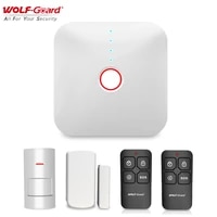 Wolf-Guard     Kit dalarme de securite domestique intelligent  wi-fi 2 4 ghz  433MHZ  capteur de porte  detecteur de mouvement PIR  anti-cambriolage