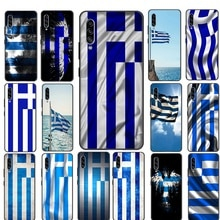 Greece Flag Banner Silicone Phone Case For Samsung Galaxy Note 8 9 10 Plus Lite A51 A71 A81 A91 A01