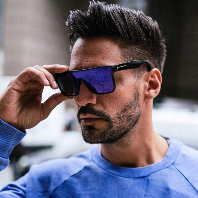 Tom Ford Zonnebril Vrouwen Mannen 2020 Merk Designer Rechthoek Blauw Sliver Zon Glassses Oculos De Sol Masculino Uv400