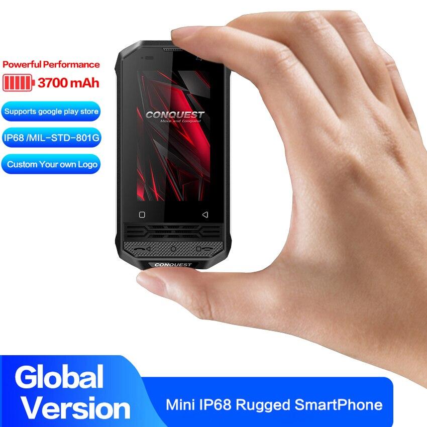Перейти на Алиэкспресс и купить CONQUEST F2 NFC IP68 Ударопрочный мобильный телефон, Android 8,1, 4G, сканер отпечатка пальца, четырёхъядерный, PTT POC, рация