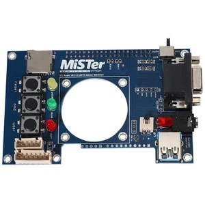 with RGBHV / RGBS / YPbPr IO Board Analog Video Output VGA Port for MiSTer FPGA 3.5mm Headphone Port Replacement Board