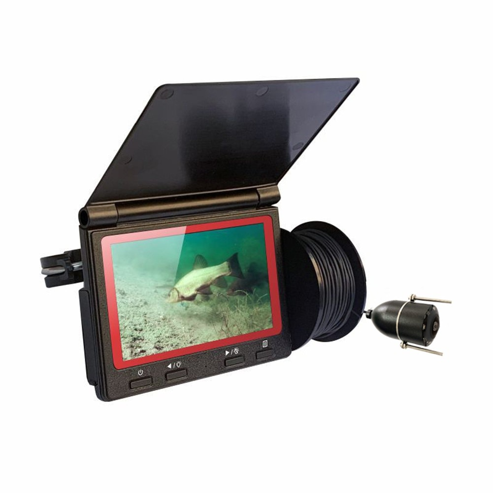 High-Definition Underwater Fish Finder 180° Fishing Camera Set 4.3 Inch Display 30 Meter Cable Holder Storage Box Set LCD Screen enlarge