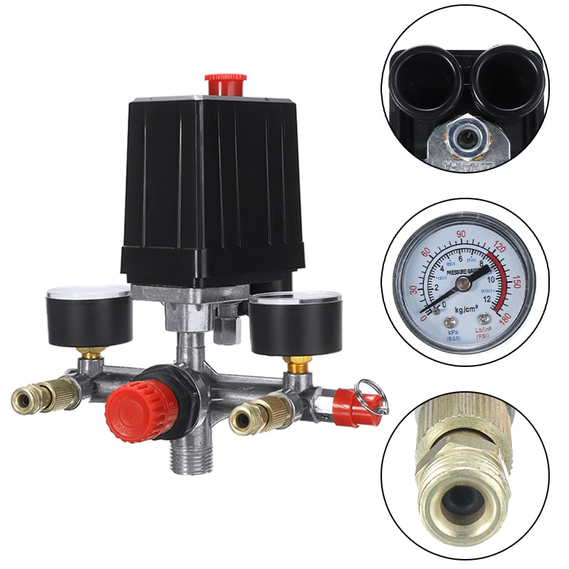230V Выход трубы переключатель давления для воздушного компрессора воздушный клапан для сброса компрессор Управление регулятора измеритель...
