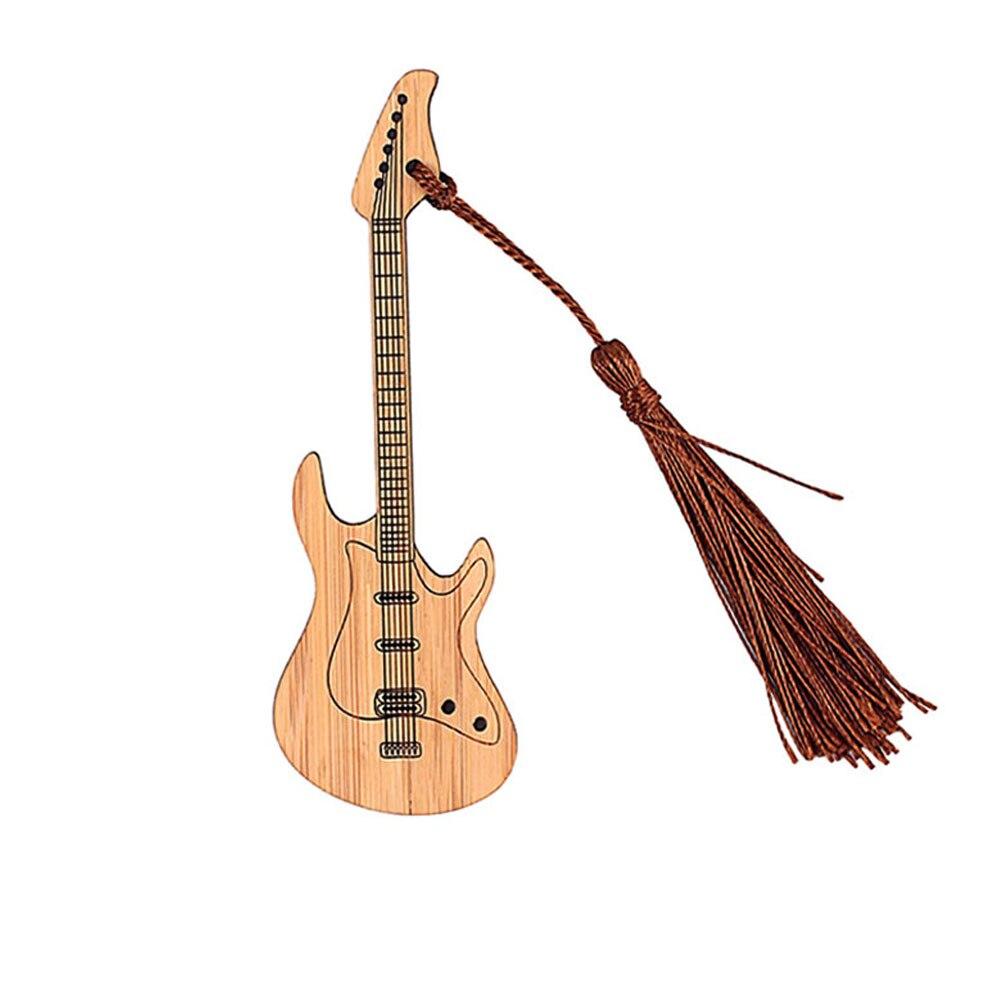 Фото - Гитара в форме бамбуковая Закладка, дерево, сделай сам, поделки, книжка, украшение, Бамбуковая страница, маркер, украшение, ремесло, гитара, Б... зайцев в б поделки из газеты