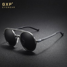 GXP 2020 Steampunk Classic Aluminum Round Lens Sunglasses Men  Polarized Sun Glasses Driving Men's E