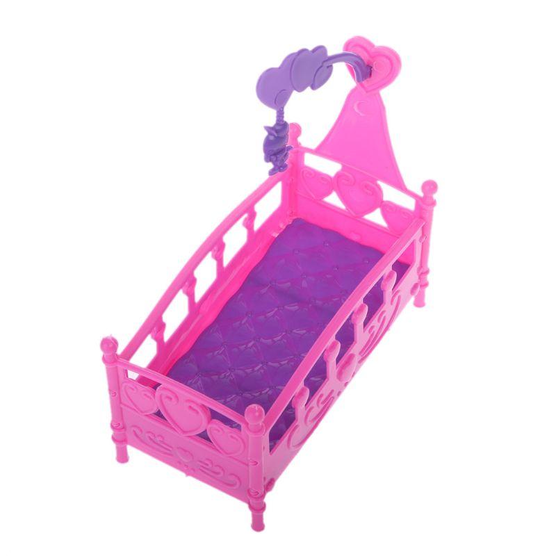 Качалка-колыбель, кровать, кукольный дом, игрушка, мебель для Келли, кукла Барби, аксессуары для девочек, игрушка в подарок H37A