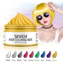 Sevich 120g Einweg Haar Farbe Wachs DIY Haar Modellierung Sterben Creme Mode Oma Grau One-Off Haar Färbung farbe Wachs TSLM1