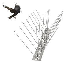 Kit de pinchos de acero inoxidable 50CM para paloma cizalladora, puntas de defensa, discos repelentes de aves, Conjunto de Seguridad antiescalada para valla