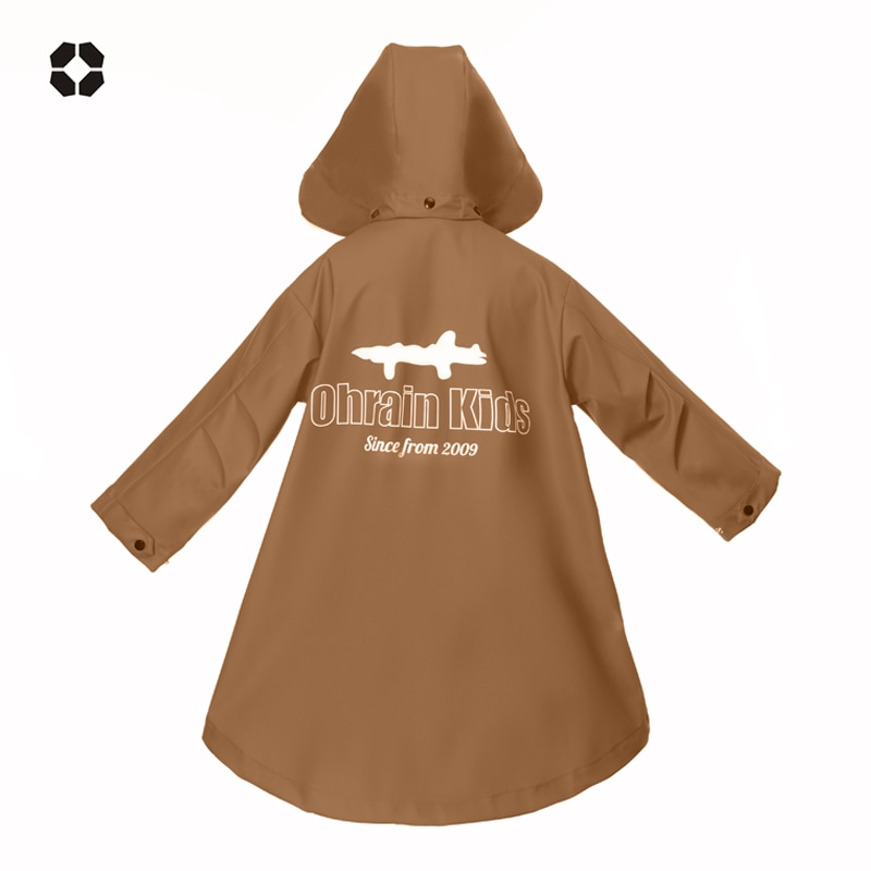Children Rain Poncho Waterproof Wet Weather Gear Reusable Rainwear Cover Fashion Impermeable Veste Pluie Kids Raincoat EB50YY enlarge
