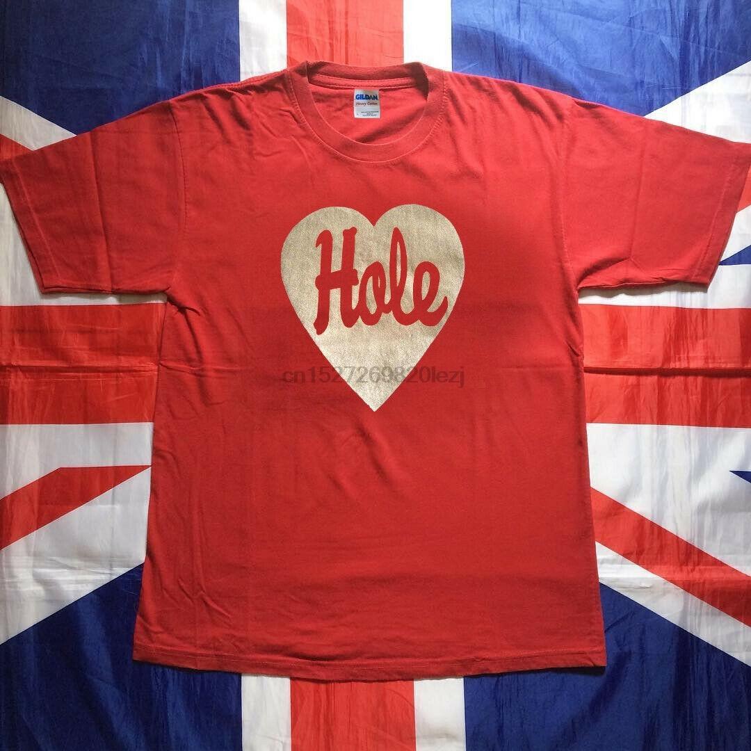 Vtg raro 90S agujero banda camisa 1994 agujero corazón amor rojo Usasz