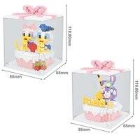 hot classic cartoon stellalou rabbit daisy donald duck figure cake model bricks micro diamond blocks toys children birthday gift