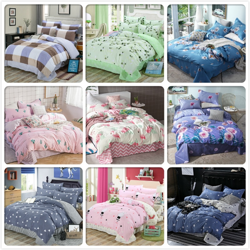 Soft Skin Cotton Duvet Cover Pillowcase 3pcs Bedding Set Kid Child Bed Linen Single Twin Queen King Size 160x200 180x220 200x230
