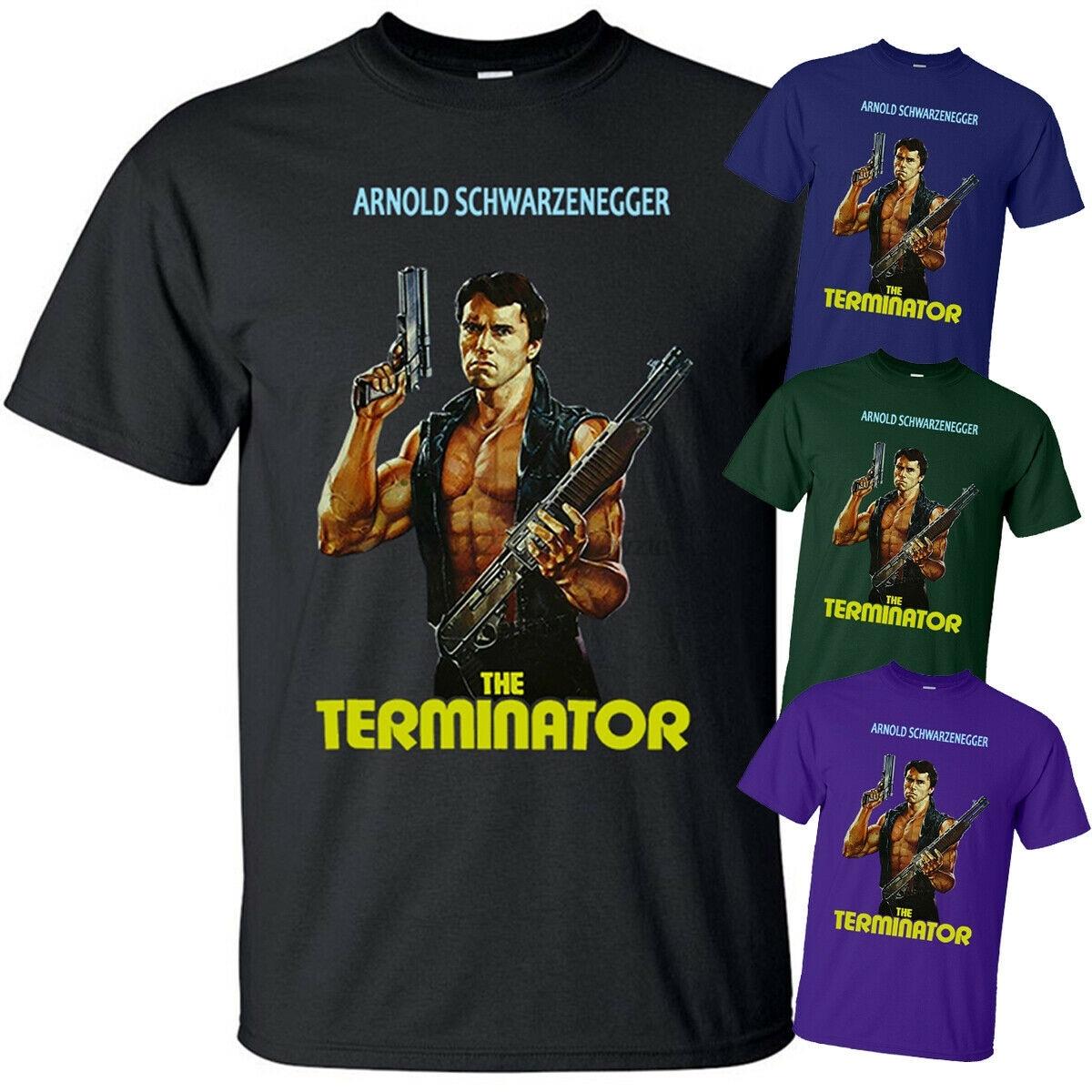 Die Terminator V3 J.Cameron film poster 1984 T-Shirt (SCHWARZ) Alle größen S-5XL