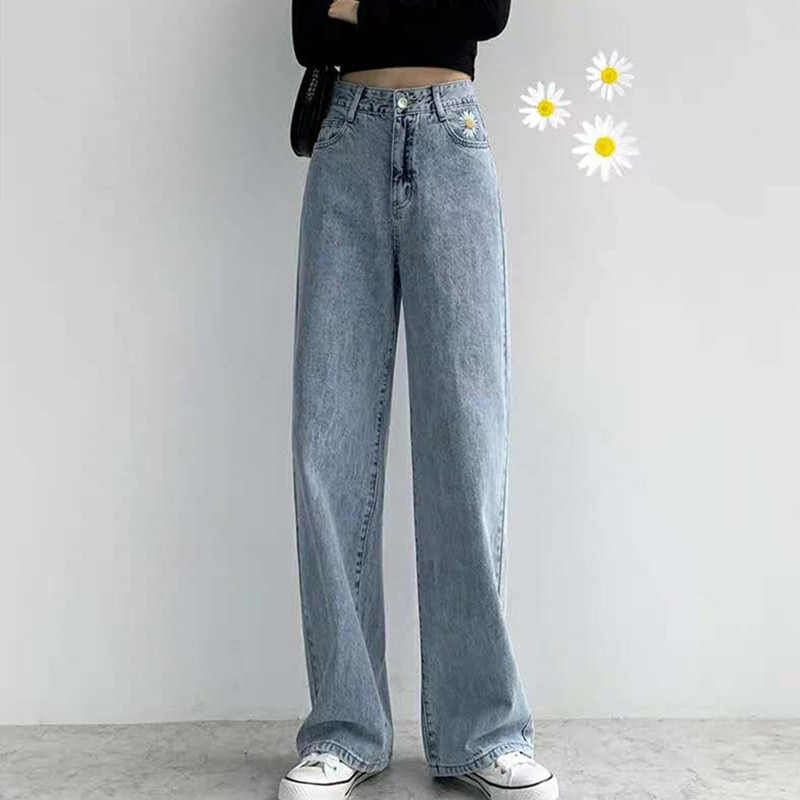 Woman Jeans High Waist Clothes Wide Leg Denim Clothing Streetwear Vintage Quality 2020 Summer  loose Pants