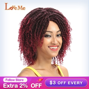 Synthetic Wig Short Afro Kinky Curly Wig High Temperature Twist Fiber Synthetic Wigs Soft Dreadlock Wigs Crochet Wig for Black W